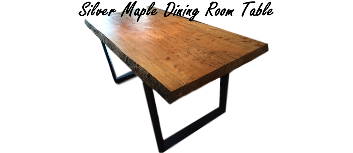 Silver maple dining room table